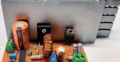 TL494 High Power High Efficiency Buck Converter Circuit