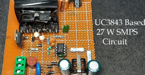 12V/27W SMPS Circuit with UC3843
