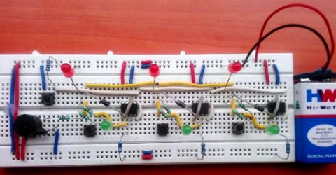 School/College Quiz Buzzer Circuit using 555 Timer IC