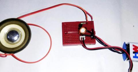 Simple preamplifier Circuit using Transistor