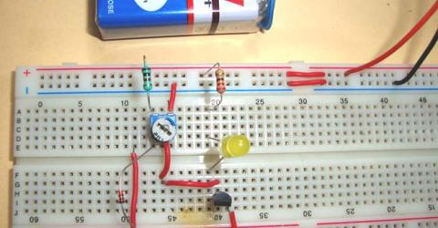 Simple Heat Sensor or Temperature Sensor Circuit