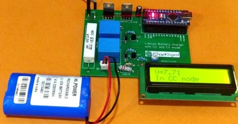 7.4V Two Step Lithium Battery Charger Circuit - CC and CV mode