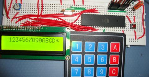 4x4 Matrix Keypad Interfacing with 8051 Microcontroller