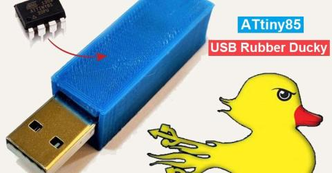 DIY ATtiny85 USB Rubber Ducky