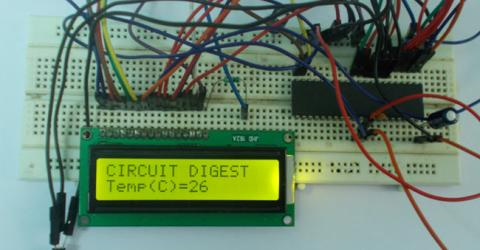 AVR Microcontroller Based Digital Thermometer using LM35
