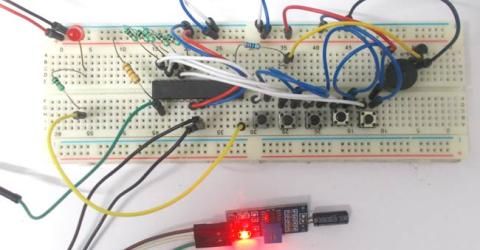 Theft Alert System using ATmega8 Microcontroller and Tilt Sensor