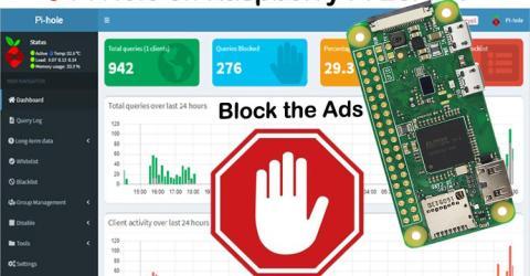 Ads Blocker using Raspberry Pi Zero W and Pi Hole