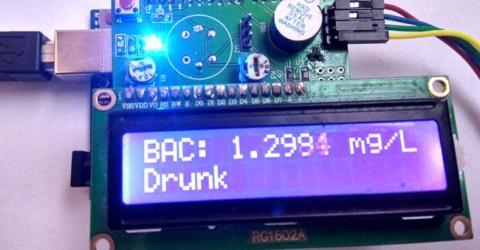 Arduino Alcohol Detector Circuit