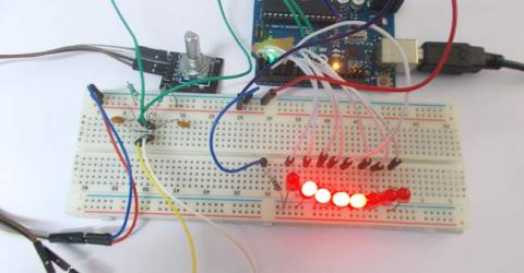 LED Chaser using Arduino Rotary Encoder