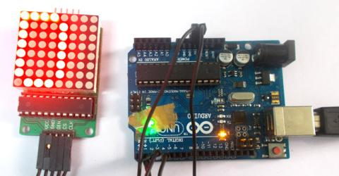 Arduino 8x8 LED Matrix Display