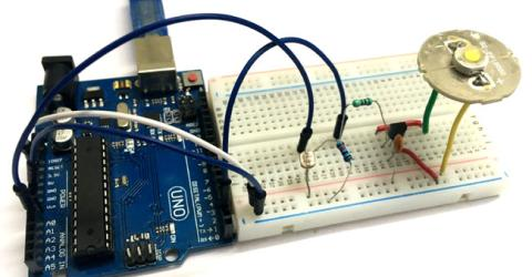 Auto Intensity Control of Power LED using Arduino