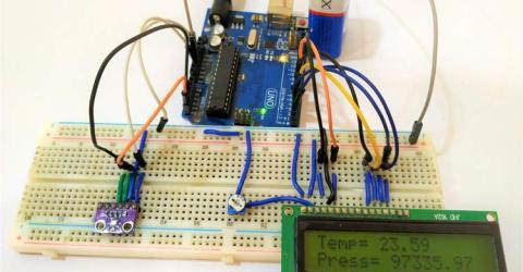 BMP280 Pressure Sensor Module Interfacing with Arduino