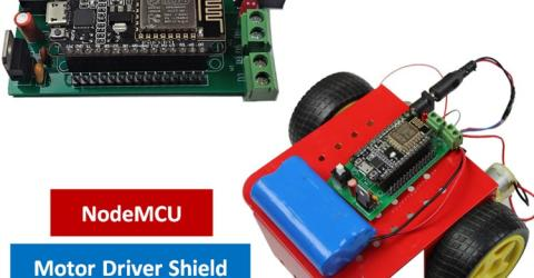 Battery Powered NodeMCU Motor Driver Shield