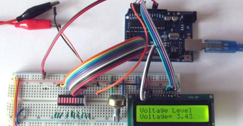 Battery Voltage Indicator using Arduino and LED Bar Graph
