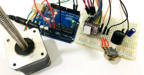 Control NEMA 17 Stepper Motor with Arduino and DRV8825