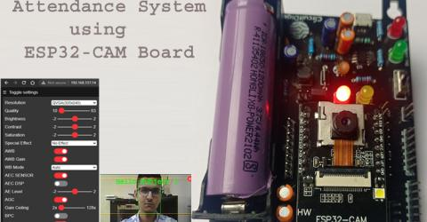 Student Attendance System using ESP32-CAM Development Board