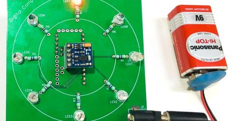 Digital Compass using Arduino and HMC5883L Magnetometer