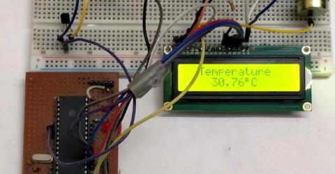 Digital Thermometer using LM35 and PIC microcontroller