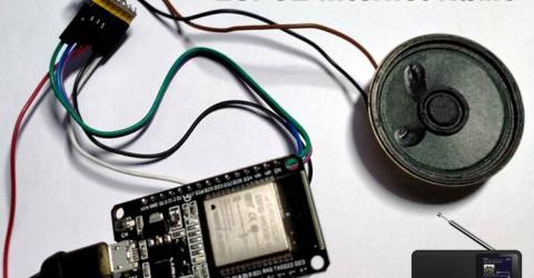 ESP32 Based Internet Radio using MAX98357A I2S Amplifier Board