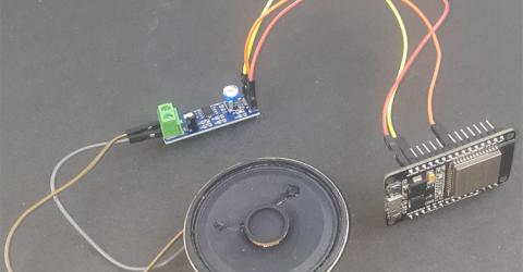 ESP32 Audio Player using LM386 IC