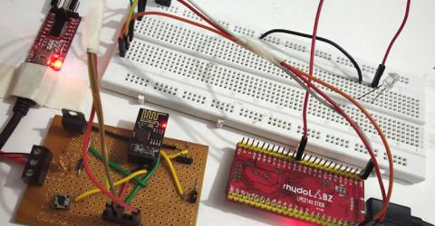 ESP8266 Interfacing with ARM7-LPC2148- Creating a Webserver to control an LED
