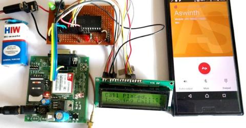 GSM Interfacing with PIC Microcontroller PIC16F877A - Make and Receive Calls