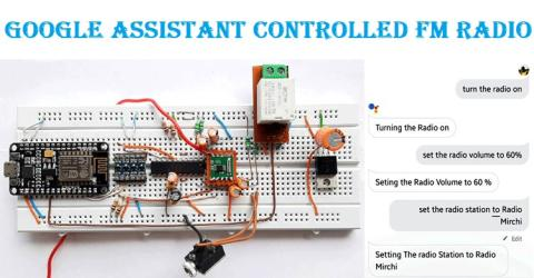 Voice Controlled FM Radio using Arduino and Google Assistant