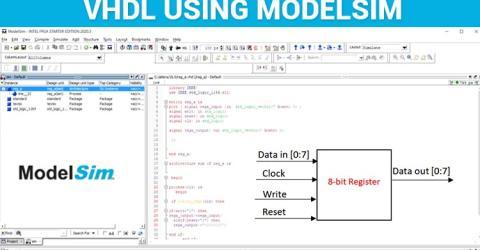 Implementing Register in VHDL using ModelSim