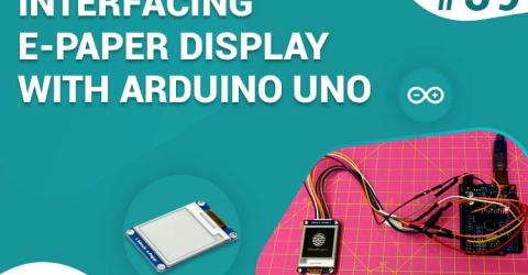 Interfacing 1.54-inch E-Paper Display with Arduino UNO