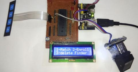 Interfacing Fingerprint Sensor with PIC Microcontroller