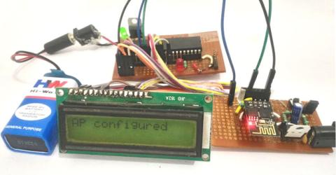 Interfacing PIC16F877A Microcontroller with ESP8266