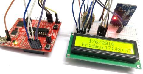 Interfacing RTC module (DS3231) with MSP430: Digital Clock