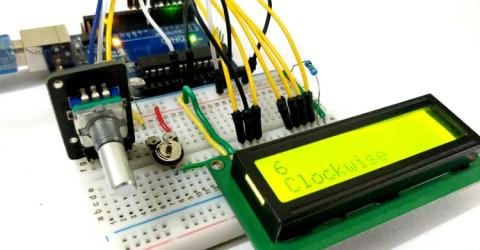 Arduino Rotary Encoder Circuit Diagram