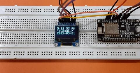Internet Clock: Display Date and Time on OLED using ESP8266 NodeMCU with NTP