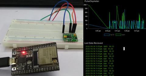 IoT Based Heart Rate Monitor using MAX30100 Pulse Oximeter and ESP32