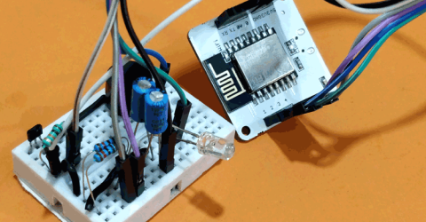 IoT based Door Security Alarm controlled by Google Assistant