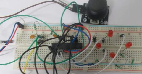 Joystick Interfacing with AVR Microcontroller
