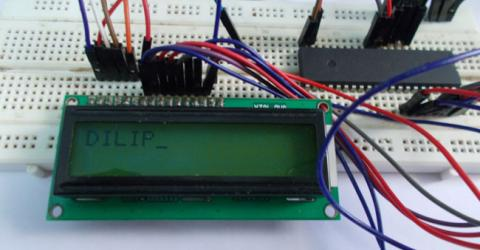 LCD Interfacing with ATmega32 AVR microcontroller