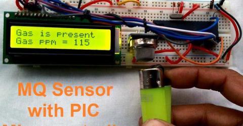 MQ sensor with PIC microcontroller
