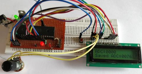 Saving Data using EEPROM in PIC16F877A