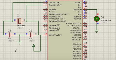 Writing the first PIC microcontroller program to blink an LED