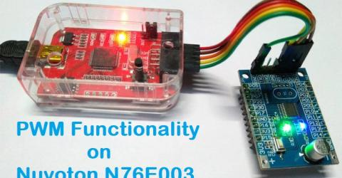 PWM Signal on Nuvoton N76E003 Microcontroller