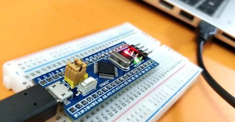 Programming STM32F103 Board (Blue Pill) using USB Port