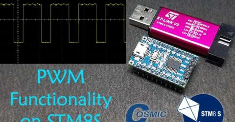 Pulse width Modulation with STM8 using Cosmic C and STVD