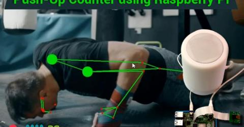 Push-Up Counter using Raspberry Pi 4
