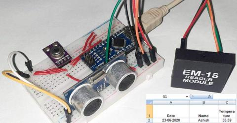 RFID Based Contactless Temperature Monitoring System using Arduino