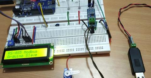 RS-485 MODBUS Serial Communication using Arduino UNO as Slave