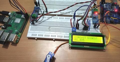 RS-485 Serial Communication between Raspberry Pi and Arduino Uno