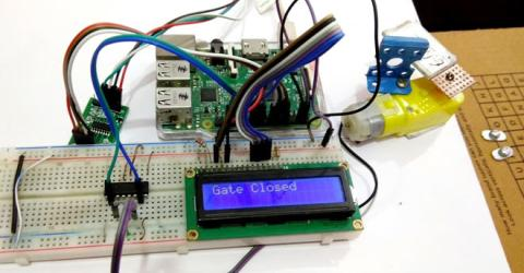 Raspberry Pi Weight Sensing Automatic Gate using Load Cell and HX711