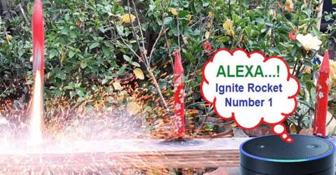 Alexa based Voice Controlled Rocket Launcher